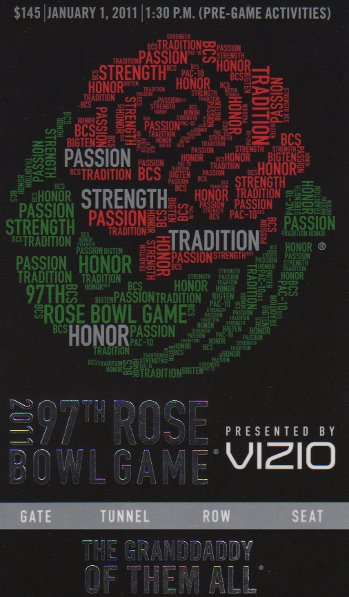 Rose Bowl Ticket 2011